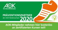 AOK - 100-prozentige Kostenübernahme mit Gutschein - Kooperationspartner/Krankenkasse